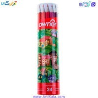 مداد رنگی لوله ای 24 رنگ اونر