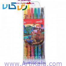 مداد شمعی 6 رنگ اونر