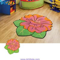 تصویر فرش تزئینی طرح گلبرگ