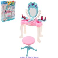 تصویر ست میز لوازم آرایشی با صندلی دخترانه