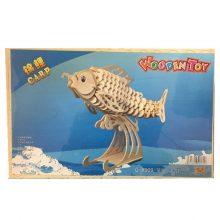 تصویر پازل سه بعدی چوبی طرح ماهی
