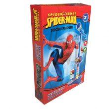 تصویر میکروفون پایه دار طرح مرد عنکبوتی