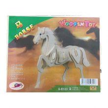 پازل چوبی 3 یعدی اسب