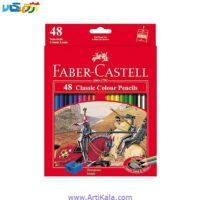 تصویر مداد رنگی 48 رنگ فابرکاستل مدل classic