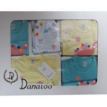 لباس نوزادی 19 تکه جعبه ای برند دانالو طرح دایناسور سایز صفر