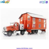 تصویر ماشین فلزی کامیون حمل کانکس مدل kdw 663002