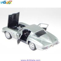 تصویر ماکت ماشین شورلت کروت مدل 1965 Chevrolet Corvette Silver 1/18