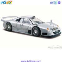 تصویر طرح ماکت ماشین مرسدس بنز مدل Mercedes CLK GTR AMG Street Version Silver 1/26