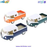 تصویر ماشین فلزی کلاسیک مدل 1963 VOLKWAGEN BUS DOUBLE CAB PICKUP