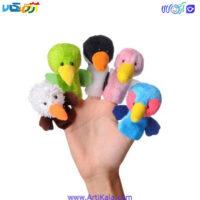 تصویر عروسک های انگشتی پرندگان شادی رویان
