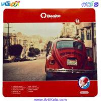 تصویر مداد رنگی 24 رنگ جعبه فلزی BENITO