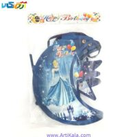 تصویر ریسه تولد تم سیندرلا آبی رنگ