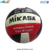تصویر توپ والیبال لاستیکی مدل MIKASA