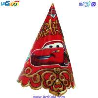 تصویر کلاه تولد تم ماشین ها