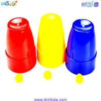 تصویر لوازم شعبده بازی مدل بازی توپ و سه لیوان