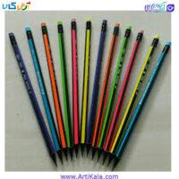 تصویر مداد سیاه پاک کن دار اسکول مکس بسته 12 عددی