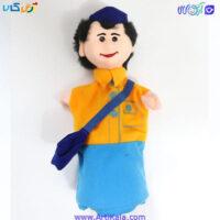 تصویر عروسک نمایشی پسرک دانش آموز مدل شادی رویان
