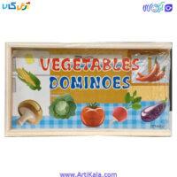 تصویر دومینو چوبی سبزیجات