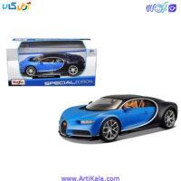 تصویر ماکت ماشین بوگاتی شیرون 1/24 مدل Bugatti Chiron