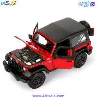 تصویر ویژگی های ماکت ماشین جیپ رانگلر 2014 - Jeep Wrangler 1/18