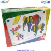 تصویر ساختنی ساز و باز 21 قطعه شیر و فیل فکرآذین