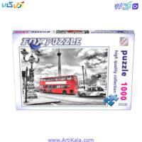 پازل 1000 قطعه اتوبوس لندن مدل fox puzzle 62220