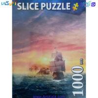 تصویر پازل 1000 قطعه slice مدل کشتی تینکربل و دزدان دزیایی