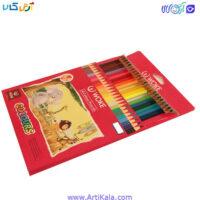 تصویر مداد رنگی 24 رنگ جعبه مقوایی   woke