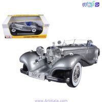 ماشین فلزی مرسدس بنز کلاسیک مدل 1936 Mercedes Benz 500 K TYP Special Roadster Scale 1:18
