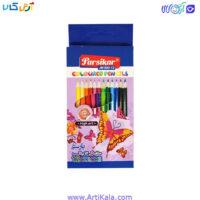 تصویر مداد رنگی 12 رنگ جعبه مقوایی پارسی کار