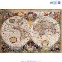 پازل 1000 قطعه طرح خاص نقشه باستانی جهان