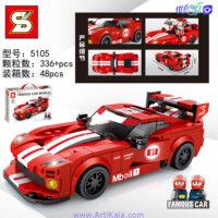 تصویر لگو ماشین مسابقه قرمز مدل sy5105