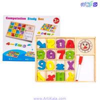 بسته آموزش ریاضی با تخته wooden toys